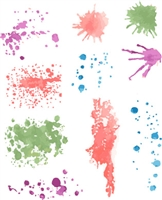 1226 Watercolor Splatter Set