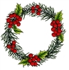 1252 Wreath with berries
