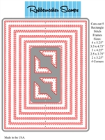 Rectangle Stitch One Piece Combined Die Cut 5122D
