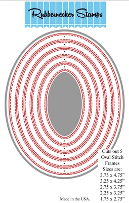 Oval Stitch One Piece Combined Die Cut 5123D