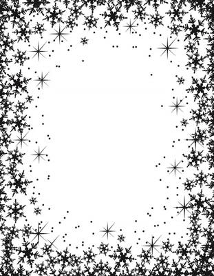 Snow Flake Frame - 656