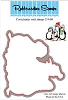 Caroling Penguins Die Cut 659-08D