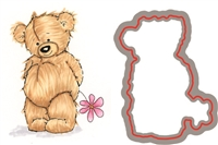 895-05 Bundle Teddy Bear Stamp and Die