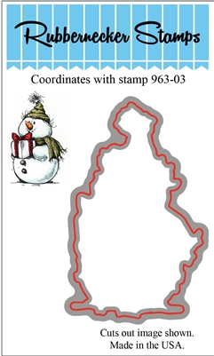 Snowman with Present Die Cut 963-03D