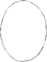 Distress Oval Frame 986