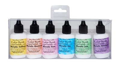 Ken Oliver Color Burst 6 Pack Set Liquid Metals Precious Alloys