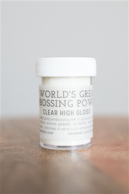 Clear High Gloss Embossing Powder