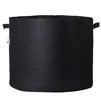 Hydro Crunch 32 in. x 29.5 in. 100 Gal. Breathable Fabric Pot Bag with Handles Black Felt Grow Pot