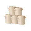 Hydro Crunch 8 in. x 8 in. 2 Gal. Breathable Fabric Pot Bags with Handles Tan Felt Grow Pot (5-Pack)