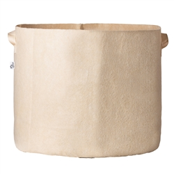 Hydro Crunch 23.25 in. x 22 in. 45 Gal. Breathable Fabric Pot Bag with Handles Tan Felt Grow Pot