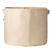 Hydro Crunch 28 in. x 26 in. 65 Gal. Breathable Fabric Pot Bag with Handles Tan Felt Grow Pot
