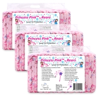 Princess Pink Rearz Adult Diapers, Case (36)