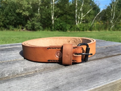 "Riveted 1"" Roller Buckle Belt"