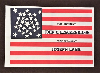 John Breckinridge Campaign Flag`