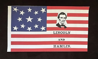 Abraham Lincoln Campaign Flag
