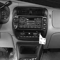 Panavise In-Dash, Ford Explor 95-01,Ranger 95-00, Mazda B Ser.P/U 95-99,Mountaineer w/Acc 97-01, Acterra 07-09