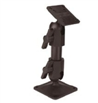 "Panavise Slimline Post Mount, with 6"" rise, with AMPS ball plate, black"