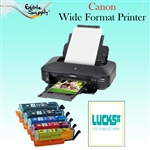 Canon Wide Format Printer with XL Refillable Edible Ink Cartridge Combo / 24 Print Ons Sheets