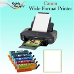 Canon Wide Format Printer with XL Refillable Edible Ink Cartridge Combo / 24 Vif Edible Sheets