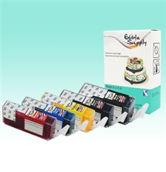 Standard PGI-225BK/ 226CMYK  Edible SPONGE-FREE Cartridge Set