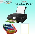 Canon All-In-One Printer with XL Edible Ink Cartridge Combo / 24 Vif Edible Sheets