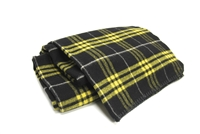 "Officially Licensed Appalachian State University Tartan Stadium Blanker.  Wool.  High Quality Construction  - Made by Woolrich.  Made in USA. Can be used for picnic or  tailgate blanket. Measures 56"" x 36""."