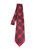 "Officially Licensed Bradley University Tartan Tie.  Perfect for special events, game day, church, reunions, or any day you want to show your university pride!  Made in USA.  Measures 58""."
