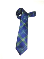 Emory University Tartan Satin Tie