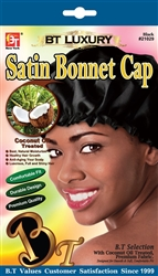Coconut Oil Treated Satin Bonnet