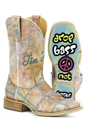 Tin Haul Hippie Peace Sole Cowgirl Boots
