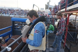 Behing the Bucking Chutes with Ryan Gray at Preston, ID PRCA Rodeo 2013