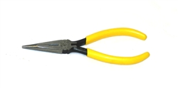"Klein 6"" Standard Long-Nose Pliers - Side-Cutting"