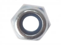 Hexagonal Nuts with Nylon Inserts - Zinc Plated - Bag