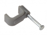 Cable Clips - Flat - Grey - Box