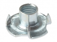 Pronged T Nuts - Zinc Plated - Bag