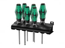 Wera 335/350/355/6 Kraftform Plus Screwdriver Set - Series 300 - PH/PZ/SL