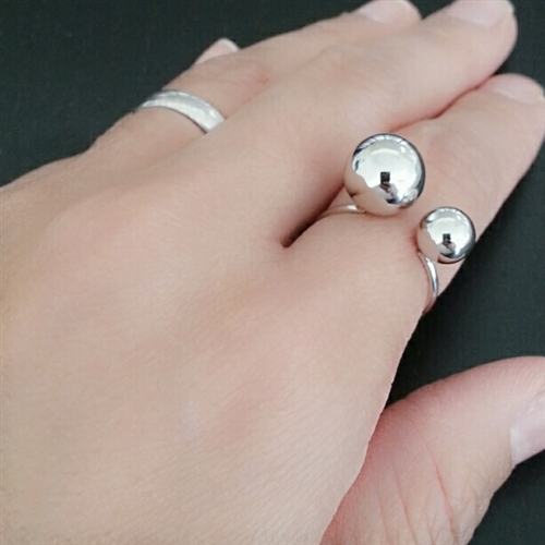 (2nd Reorder) Silver Ball Ring