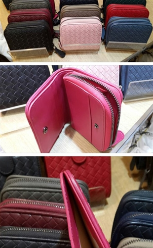 (Pre-Order) Folded Wallet (Brown/Dark Gray/IndiPink) (will ship within 1~2 weeks)