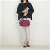 (Back-Order; 2nd Reorder) Burgundy Togo Leather Cross Bag (will ship within 1~2 weeks)