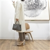 (Pre-Order) Gray Luxe Leather Tote & Shoulder Bag (will ship within 1~2 weeks)