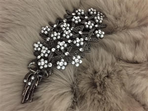 (Pre-Order) Pearl and Cubic Flower Hair Pin (will ship within 1~2 weeks)