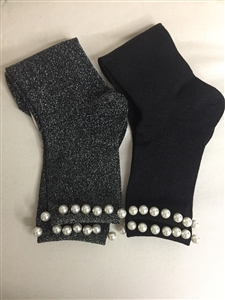 (Pre-Order) Pearl Socks (Gray/Black) (will ship within 1~2 weeks)
