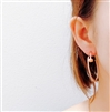 (Best; Back-Order) Nail Earring (Silver/Rose Gold) (will ship within 1~2 weeks)