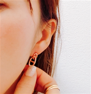 Rose Gold H Earring
