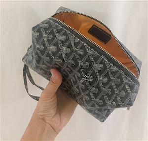 Gray Print Cosmetic Pouch