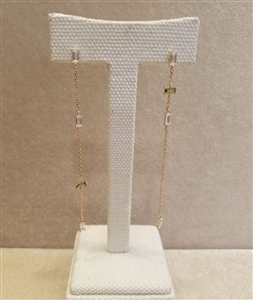 (~01/23) Green Square Long Earrings (will ship within 1~2 weeks)