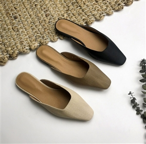 (Pre-Order) Must Have Square Line Mule (Beige/Brown/Black) (230~250) (will ship within 1~2 weeks)