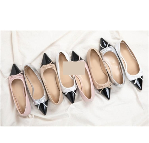 Two Tone Ribbon Flat (Silver/White/Beige/Pink) (225~250) (will ship within 1~2 weeks)