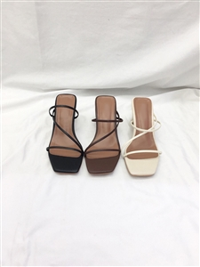 String Slippers (Black/Ivory/Brown) (230~250) (will ship within 1~2 weeks)
