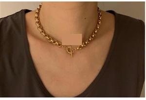 High Quality 한혜연  슈스스 추천 Silver 925 Chocker (Gold Color) (will ship within 1~2 weeks)
